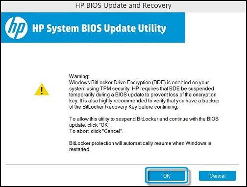 Image: BIOS Update Utility update window