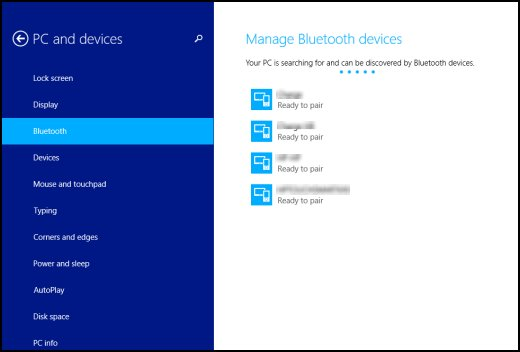 Windows, Bluetooth aygıtlarını arar