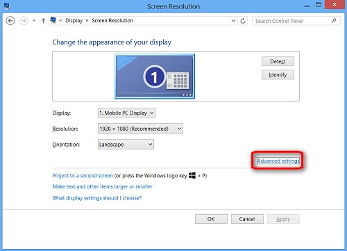 HP Products - Changing Display Settings, Background Image