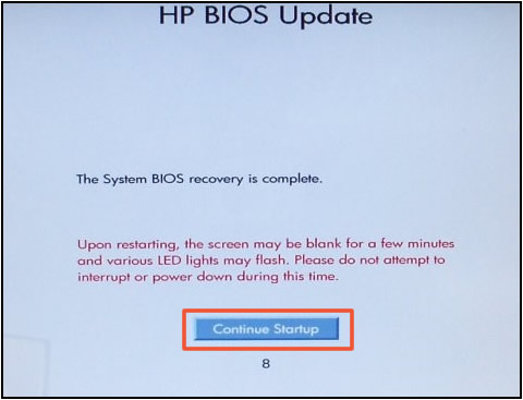 Bios corrupted and not taking recovery usb - HP Support