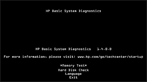 HP Basic Systems Diagnostics