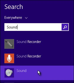 Sound search results