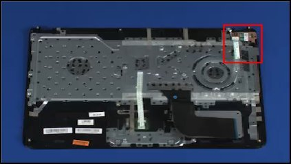 Location of the power button board