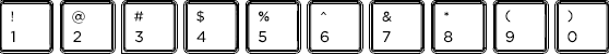 Korean keyboard top row detail