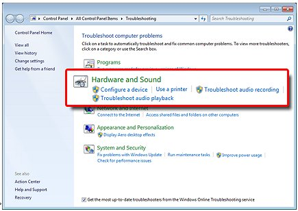 HP PCs - Resolve Microphone and Audio Line-in Problems (Windows 7