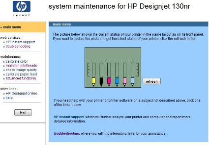 Hp designjet 102030507090100110111120130 printer series the system maintenance window will now open fandeluxe Gallery