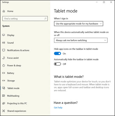 HP Notebook PCs - Switching Between Tablet Mode and Desktop