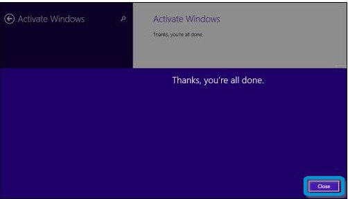 Windows successfully activated