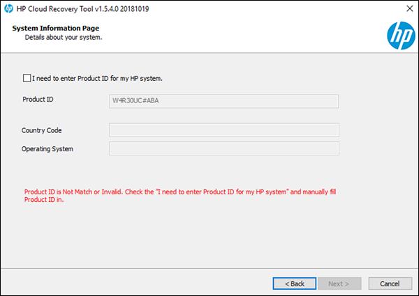 HP Consumer PCs - Using the HP Cloud Recovery Tool (Windows