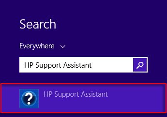 Search results for HP Support Assistant