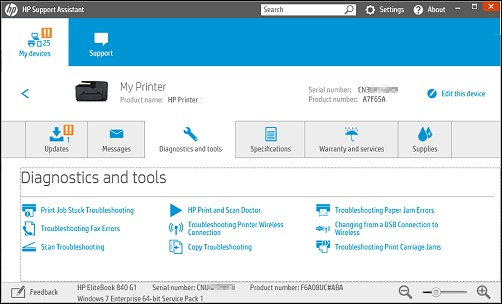 HP Printers - Using HP Diagnostic Tools for HP Printers in