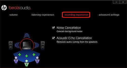 Recording experience screen