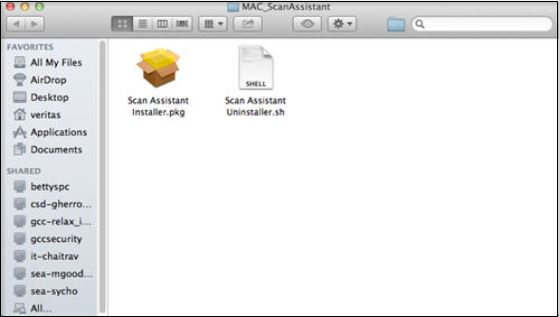 Image shows the Scan Assistant Installer