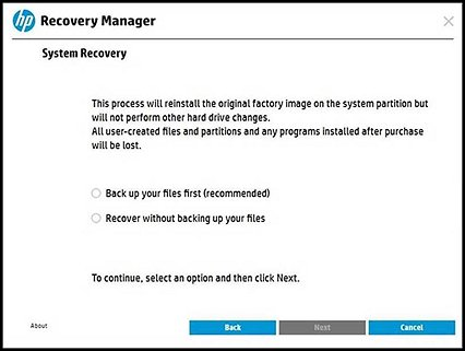 HP PCs - Performing a System Recovery (Windows 10)   HP