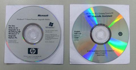 hp 和 compaq 台式电脑 - 使用 windows 7 升级光盘安装 windows 7图片