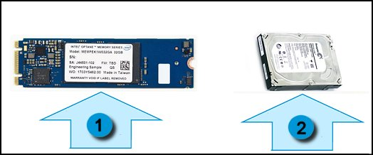 Intel Optane pairs with the hard drive