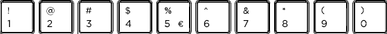 Romanian keyboard top row detail