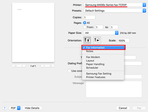 Samsung Printers - Fax features do not work as expected or