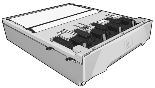 HP Designjet L26500 printer series - Ink system components