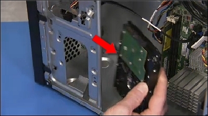 Removing the drive from the computer