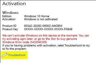 HP Computers - Windows Does Not Activate Automatically on Certain