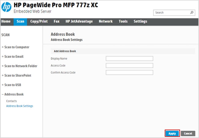 HP PageWide Pro 750, MFP 772, MFP 777, Managed P75050-P75060