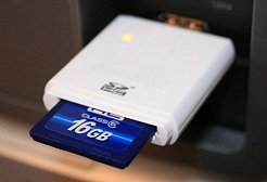 Memory card in a USB card reader