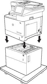 HP LaserJet MFP M631-M633, E62555-E62575 - Install the 1 x 550-sheet