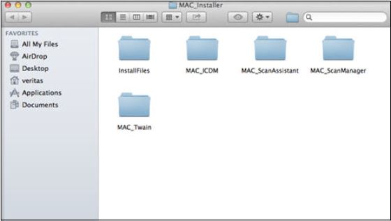 Image shows Scan installation folders