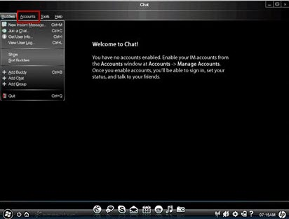 Image of the chat application screen.