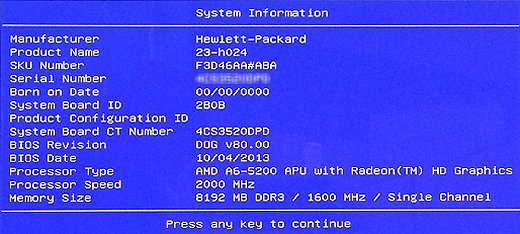 Desktop System Information