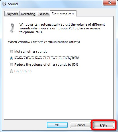 Options to reduce or mute other sounds while using the microphone
