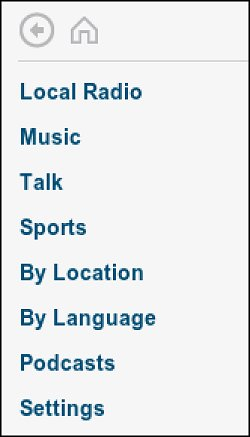 Radio channel sort options