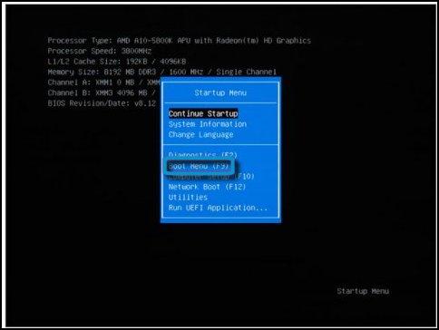 HP 2000-101XX UEFI Windows