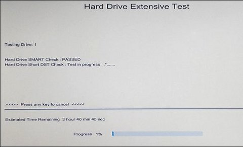 Hard Drive Extensive Test - in progress