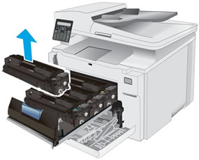 Removing the toner cartridge