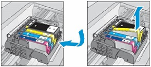 Image: Remove the ink cartridge from its slot.
