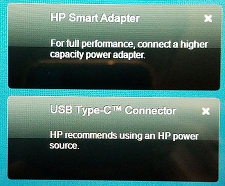 HP Smart Adapter message