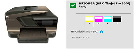 Image: Example of the printer in 'ready' mode