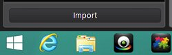 Import button