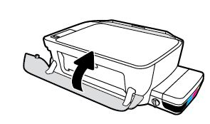 printer hp deskjet 1510 how to close output paper tray