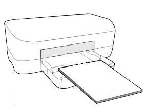 Printer with a paper input tray on the front
