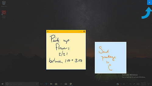 Creating and saving a sticky note in Windows Ink Workspace