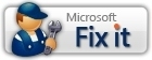 Example of the Microsoft Fix It Solution logo