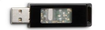 Imagem do receptor sem fio USB.