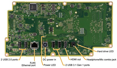 Rhone motherboard bottom view