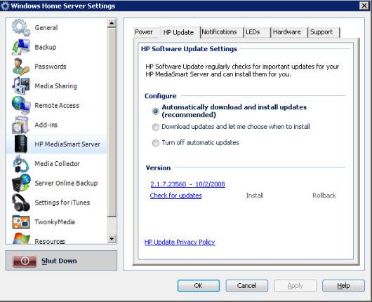 Hp mediasmart server (ex470, ex475) replacing the system drive.