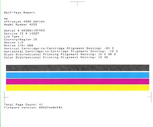hp color printer test page - hp officejet 4210 4250 and 4300 all in one printer