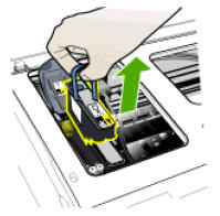 Image: Lift the handle and then remove the printhead