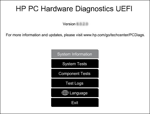 Driver for HP ENVY 23-d110fb TouchSmart Hardware Diagnostics UEFI
